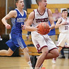 Dundee's Isaac Seamans drives to the basket, Thursday, Jan. 10 against Honeoye.