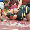 Collin Haag secures a pin against Whitney Point. Bettelynn Bravo Photo