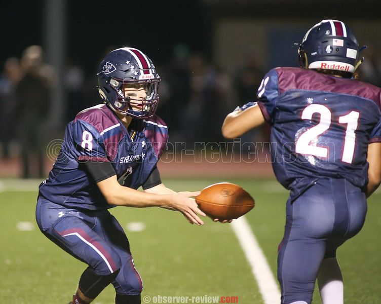 Cameron Holland and Travon Jones combined for three touchdowns in the game last Friday. FILE PHOTO