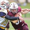 Joshua Cramer battles the defense to gain yardage, Saturday, Oct. 12.