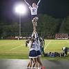 The Seneca Indian cheerleaders were on hand to cheer during game breaks.