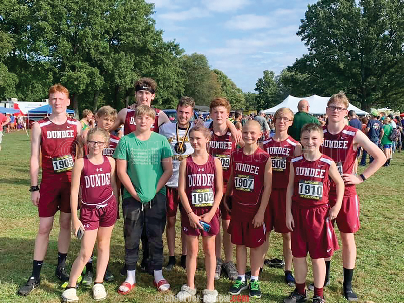 The Dundee cross country team competed at the McQuaid Invitational, Saturday, Sept. 28. Photo: DUNDEE SPORTS BOOSTERS