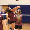 Renae Gregory returns the ball for Dundee, Monday, Sept. 30.