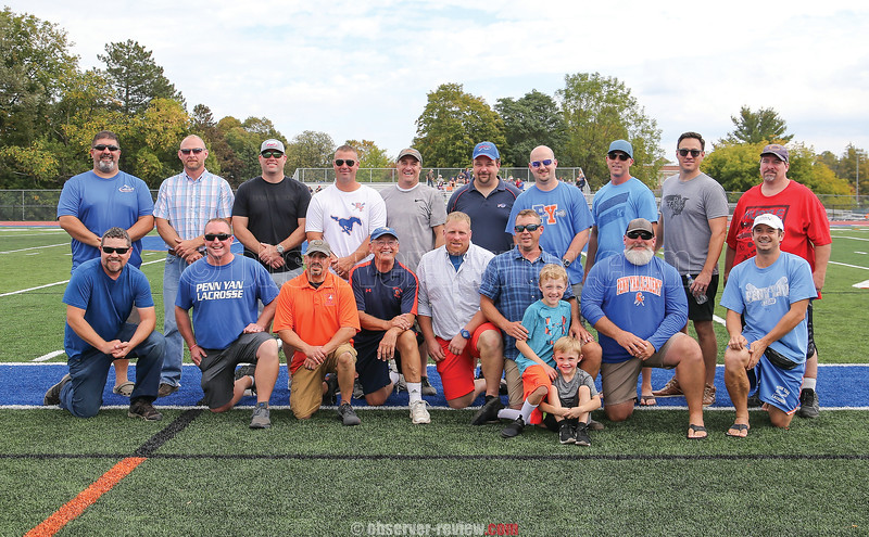 At halftime, the 2019 inductees into the Penn Yan Hall of Fame were announced. They included Dan Yonts, Heather Wachob and the 1996 Boys Lacrosse Team.