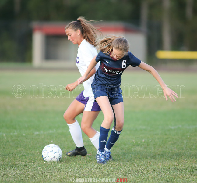 Jenna Solomon looks to control the ball in the game last week.