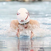 Faye Mooney swims in the 100 yard breaststroke event Saturday, Oct. 26.