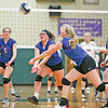 Serina Sheradin and Jammie Decker scramble to save the ball in the title game against Attica.