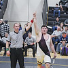 Dylan Houseknecht celebrates his victory in the 285 pound division, Saturday, Feb. 9. Photo Provided