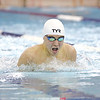 Caleb Thomas swims the breaststroke event for Odessa last week.