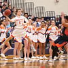 Peyton Schuck tries to save the ball from going out of bounds, Saturday, Feb. 23.
