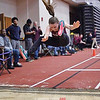 Lily Hall jumps for Dundee at the state qualifier, Friday, Feb. 22. Photo Provided