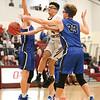 Preston Harris soars to the basket Friday, Feb. 1.