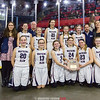 The Watkins Glen girls basketball team poses for a photo after defeating Cooperstown, Sunday, March 10.