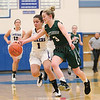 Paula Garcia tries to prevent a turnover in the sectional game.