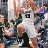 Ana Salom drives to the basket Tuesday, Feb. 26 against Prattsburgh/Avoca.