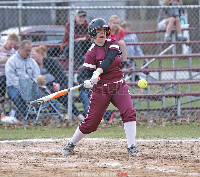 Dalaine Nolan connects for a single, Monday, April 8 at Dundee.