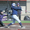 Cierra Barber connects for a single in the game Wednesday, April 3.