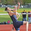 Jordan Avery takes off in the high jump event last week.