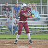 Claudya Lyons hits a foul ball during the game against South Seneca.