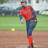 Kayla Andersen delivers a pitch, Thursday, May 16.