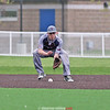 Josiah Wysocki gets in front of a ground ball last week against Tioga.