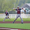 Austin Voorheis fields the ball and throws to first base, Friday, May 17.