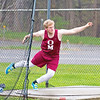 Zach Elliott competes in the discus throw, Friday evening.