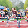 Kennedey Heichel advances in a hurdle race at Odessa, Friday.