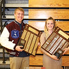 Dundee's male and female athletes of the year, Preston Cole and Haille Empson.