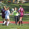 Claudya Lyons makes a save for Dundee in the Friday homecoming game.