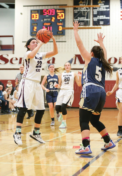 Carly Arnold shoots for Watkins Glen Friday, Dec. 20 against Notre Dame.
