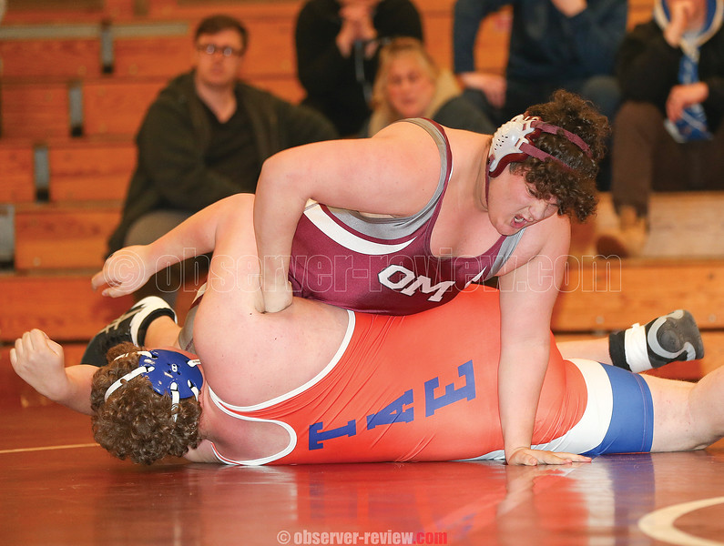 Joe Sweet pins his opponent in the match against Thomas Edison, Wednesday, Jan. 8.
