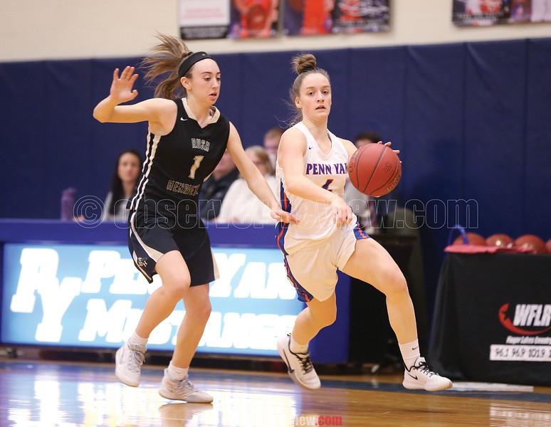 Penn Yan's Sierra Harrison drives to the basket in the game, Monday, Jan. 27.