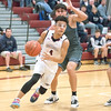 Preston Harris drives past the defender in the Friday night game against Moravia.