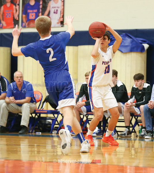 David DeSorbo shoots a three-pointer in the game against Haverling, Friday, Jan. 3.