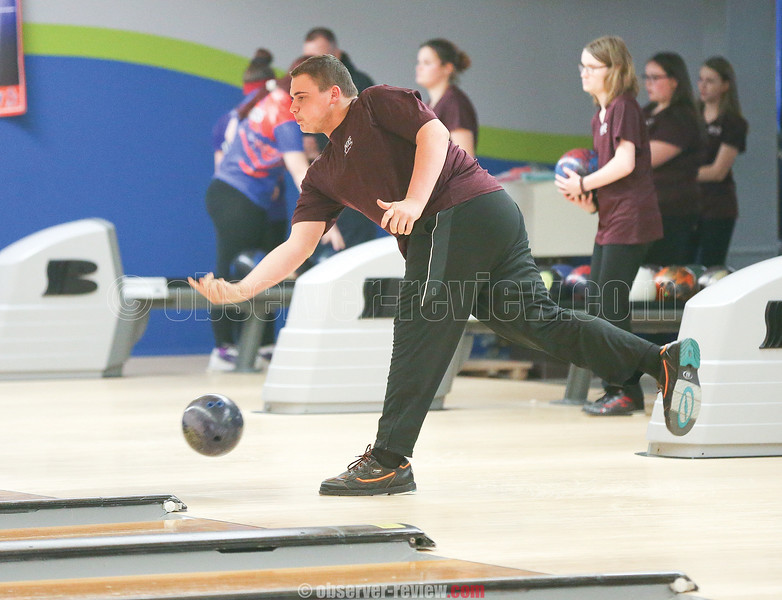 Stephen Smith led the boys with a 539 in the match against Penn Yan last week.