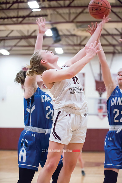 Autumn Garrison is fouled as she goes for a layup against Candor.