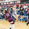 Isaac McIlroy goes to the basket in the game against Odessa, Tuesday, Jan. 28.