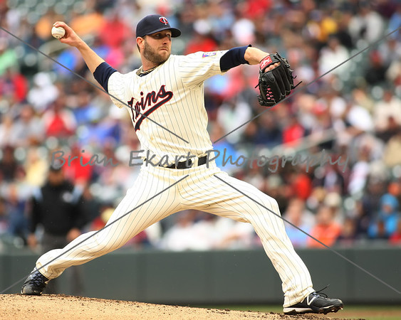 Minnesota Twins pitcher Jared Burton (61) pitching during the game on May 26, 2012:  at the Minnesota Twins game versus the Detroit Tigers at Target Field in Minneapolis, MN.   Detroit 6 and Minnesota 3.