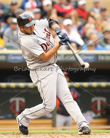 Detroit Tigers infielder Jhonny Peralta (27) at bat during the game on May 26, 2012:  at the Minnesota Twins game versus the Detroit Tigers at Target Field in Minneapolis, MN.