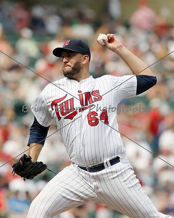 Minnesota Twins pitcher Tyler Robertson (64) pitching during the game on July 15, 2012:  during the Minnesota Twins game versus the Oakland Athletics at Target Field in Minneapolis, MN.