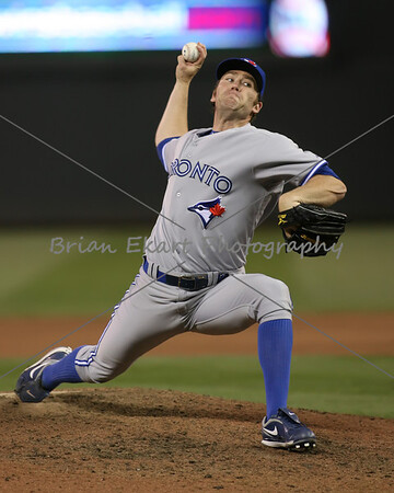 Toronto Blue Jays pitcher Jason Frasor (54) pitching during the game on May 12, 2012:  at the Minnesota Twins game versus the Toronto Blue Jays at Target Field in Minneapolis, MN.