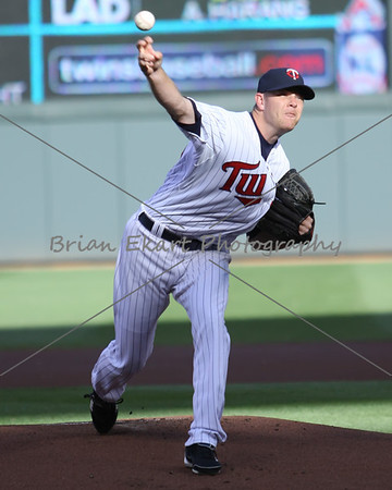 Pitcher P. J. Walters pitching during the first inning on May 12, 2012: at the Minnesota Twins game versus the Toronto Blue Jays at Target Field in Minneapolis, MN.