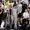 The San Antonio Spurs bench react to a Tim Duncan dunk against the Miami Heat during the first half of Game 6 of the NBA Finals basketball game, Tuesday, June 18, 2013 in Miami. (AP Photo/Wilfredo Lee)