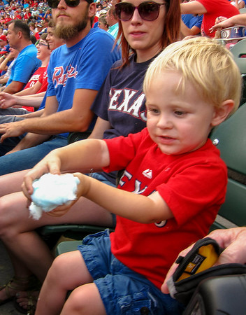 Cayden watched the Texas Rangers beat the Houston Astros 10 to 5