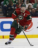 Minnesota Wild forward Dany Heatley (15) brings the puck up the ice during period three at the  Excel Energy Center in Saint Paul, MN.  LA Kings 4 and Minnesota Wild 0.
