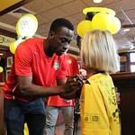 Amadou Sanyang signing autograph at 2014 Meet and Greet