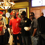 Amadou Sanyang, Quentin Griffith, and Dane Kelly with fans at 2014 Meet and Greet