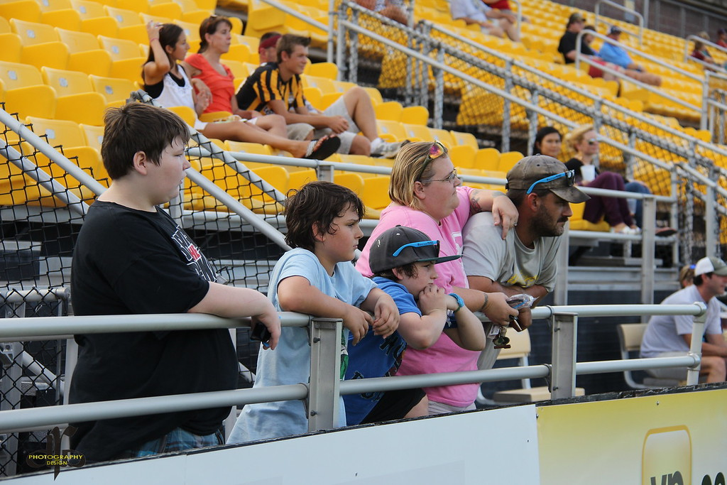 The Wiseman family at the Battery vs Eagles match