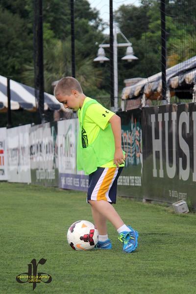 "Joey ""Peanut"" Benton showing off his ball skills"